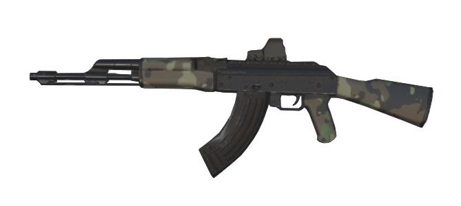 スマホアプリ knives out AK-47:雨林の試練