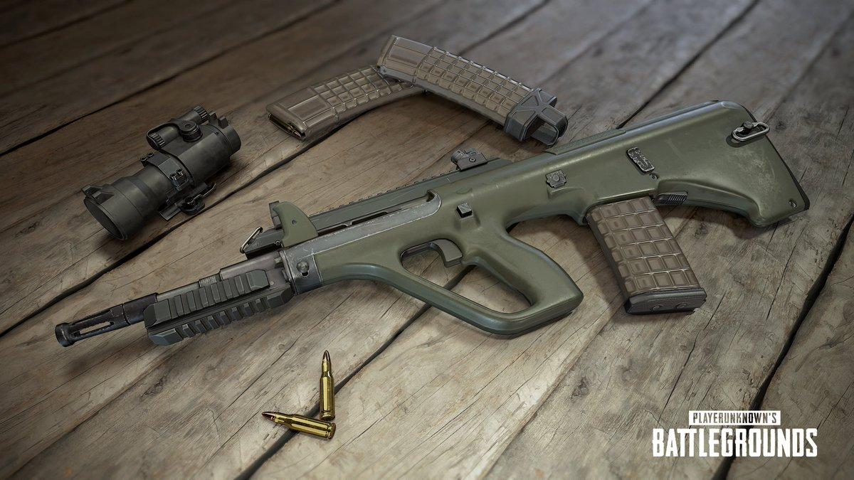 PUBG アップデート AUG A3が追加、威力は?使える武器か評価