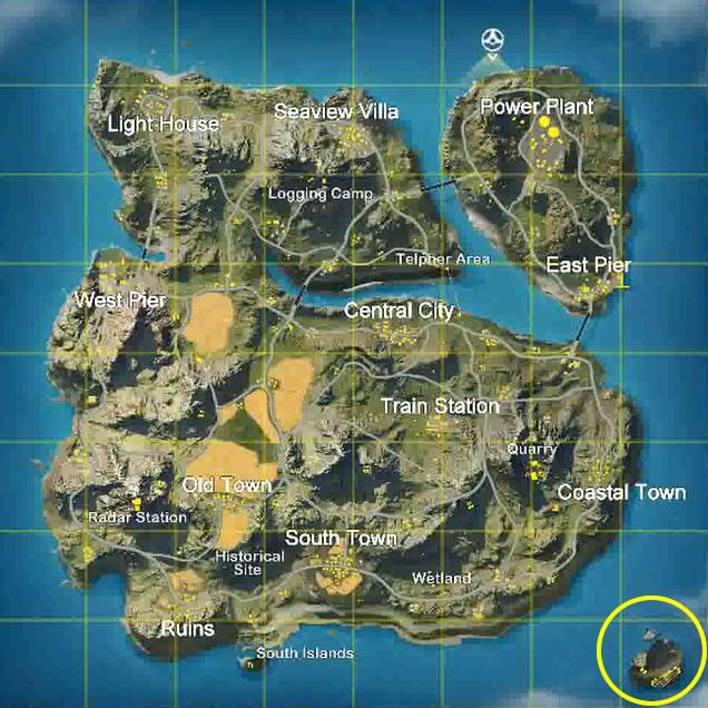 荒野行動 最初の島はどうなってるの?一旦戻って戻ってみた