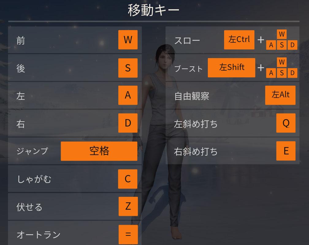 荒野行動 PC版の操作方法、基本から必要なキーボード操作と指の置く位置の紹介