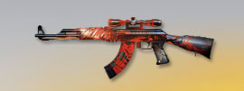 荒野行動 武器スキン AK-47 紅蓮羅刹先鋒版