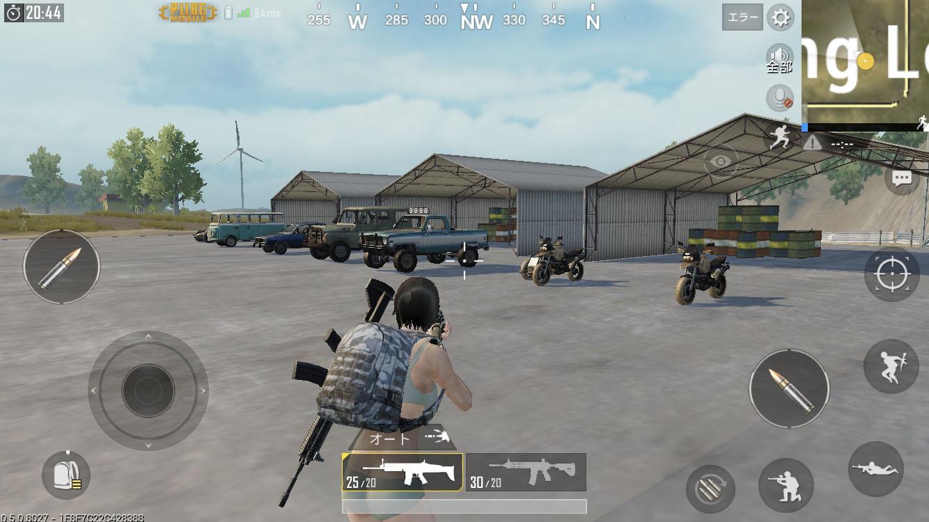 PUBG モバイル 設定を整えてからドン勝を目指そう!練習ができるトレーニング場 射撃場の紹介、武器やアイテムだけでなく乗り物まで乗れる