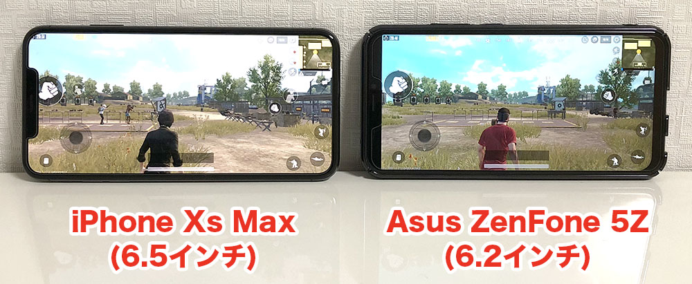iPhone Xs MaxとAsus ZenFone 5Zの比較