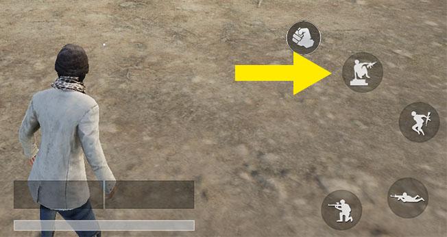 PUBGモバイルのパルクールボタン表示