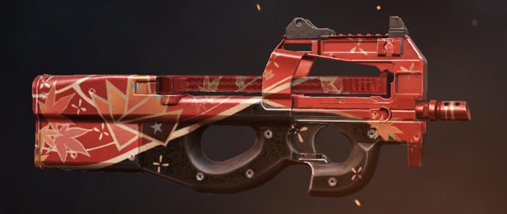 晩秋の紅葉 銃器スキン